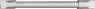 Meziskelní mřížka plastového okna - stříbrná 8mm