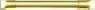 Meziskelní mřížka plastového okna - zlatá 8mm