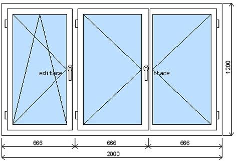 Plastová okna standardní rozměry